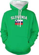 Slovenia Country Flag Slovenija Pride Football Soccer 2-tone Hoodie Pullover