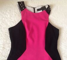 Stunning *Next* (size Uk 12) Colour block black/pink  Bodycon Dress BNWT