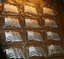 1 OZ..999 SILVER AMERICAN FLAG ART BAR  WITH WAVE LOOK    BEAUTIFUL.!!