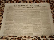 LE MONITEUR UNIVERSEL, journal officiel de l'empire français, n° 283, 10/10/1858