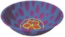 Petit bol exotique rond violet avec une fleur 439261b decoration de table fetes