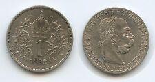 G4263 - Österreich 1 Krone 1893 Wien RAR Erhaltung KM#2804 Silber Franz Joseph I