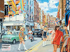 Carnaby Street, 1960's London City Retro British Cars Mods, Large Metal/Tin Sign