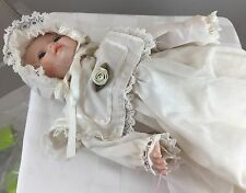 Antique Baby Porcelain Doll With Music Box And Movement