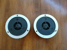 """HEAVY DUTY 1"""" DOME TWEETER PAIR-Unknown brand / 4 ohm / 3 15/16"""" o.d. face plate"""