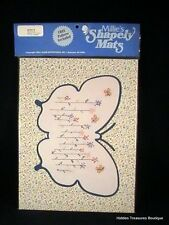 Millie's Shapely Mats Butterfly Shape w/Cross Stitch Pattern #58018 Sealed