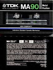 TDK MA 90 Metal position Cassette Tape
