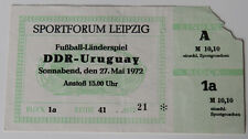 Ticket for collectors DDR East Germany - Uruguay in Leipzig 1972