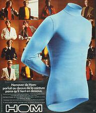 Publicité Advertising 1975  Lingerie HOM  Homover de Hom sous vetement