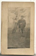 RPPC Couple in MILROY PA Pennsylvania Vintage Real Photo Postcard