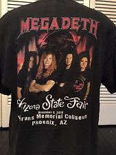 Megadeth Rust 20th Tour Shirt Sz XL Thrash Metal Satan Arizona Rock Evil Hell