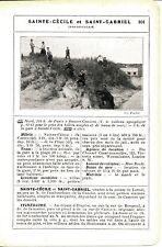62 Sainte-Cécile + St-Gabriel 1912 photo/guide (2 p.) tram à traction animale