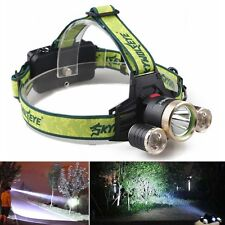 15000LM 3*CREE XM-L T6 LED Rechargeable Powerful Bright Headlamp Head Light