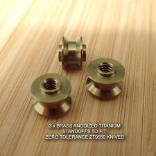 Zero Tolerance ZT0550 ZT 550 Knife BRASS Anodized Custom Titanium Standoff Set