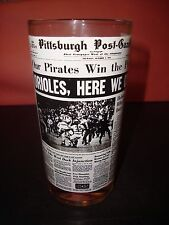 Our Pirates Win  Pennant Pittsburgh Post Gazette Glass 1971 Roberto Clemente NM