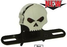 Fanale Faro Posteriore Led Bobber Skull Portatarga Nero Harley Davidson