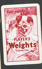 "Playing Swap Cards 1 VINT  ""PLAYER'S  WEIGHTS "" CIGARETTES  ADVT  C35"