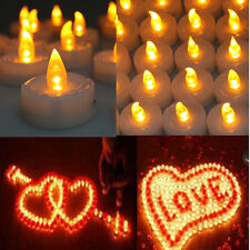 Lot 100 LED Flickering Flashing Flameless Tea Light Candle for Wedding Party