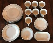 36 Piece Lot of LENOX Charleston China-Plates, Cups, Saucers, Butter Dish EUC
