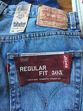 Men's Levis 505 Regular Fit Jeans 32 x 34 New with Tags