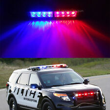 Car Police Strobe Light 8 LED Red Blue  Dash Emergency Bar Warning Flashing Lamp