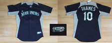 MLB Authentic Baseball Trikot/Jersey SEATTLE MARINERS Thames #10 n GameUsed 46/L