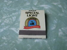 SWAN SPECIAL LIGHT LAGER VINTAGE OLD RARE UNUSED MATCHBOOK MATCH BOOK - MINT
