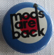 "MODS ARE BACK Target Vtg 1980`s Button Pin Badge 25mm-1""# mod.105"