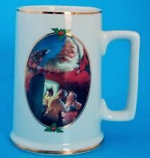 "COCA-COLA CHRISTMAS ""FOR SANTA"" MUG 4-1/2"" TALL"