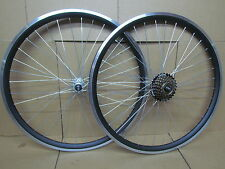 "26"" MTB Mountain Bike Bicycle Rear Front Wheelset Wheel +7 Speed Shimano(Not QR)"