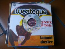 "7"" RARE ITALY LAMONT DOZIER GOING BACK TO MY ROOTS PART 1/2 COVER FORATA EX/EX+"