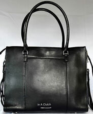 AUTH REBECCA MINKOFF BLACK SIDE ZIP LEATHER REGAN TOTE MSRP $325.00 829L