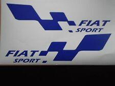 FIAT sport  LARGE car vinyl sticker decal x2