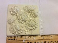 Vintage Original Style White Flowers Border Decorative Tile