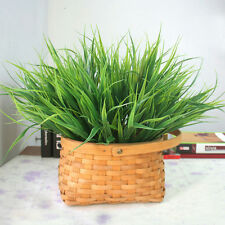 Artificial Fake Plastic Green Grass Plant Flowers Office Home Garden Decor WB