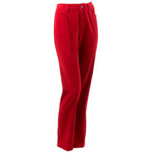 CHILI PEPPER RED VELVET DANA BUCHMAN STRETCH SLIM PANTS JEANS MISSES SIZE 14 NWT