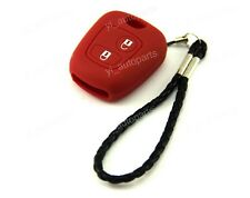 Silicone Case Cover Holder For Peugeot Remote Key 207 307 607 206 306 405 C3 Red