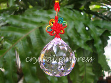 FENG SHUI - 4CM FACETED PINK HANGING CRYSTAL BALL TASSEL (LOVE & ROMANCE)