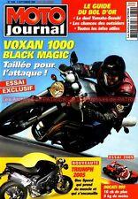 MOTO JOURNAL 1630 DUCATI 999 VOXAN 1000 Black Magic BOL d'OR GP Portugal 2004