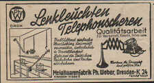 DRESDEN, Werbung / Anzeige 1940, Metallwarenfabrik Lenkleuchten Telefonscheren