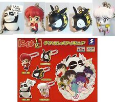 Raro SET 5 Figure RANMA 1/2 Portachiavi DEFORMED Original JAPAN FIGURES Keychain