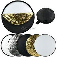 "24"" 60cm 5 in 1 Photography Studio Multi Photo Collapsible Light Reflector 35DI"