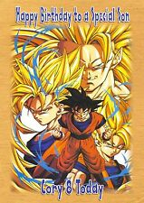 personalised birthday card son grandson daughter brother dragonball z ab