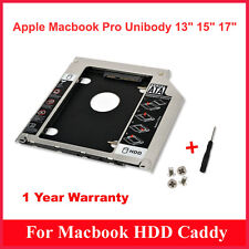 Storite New 2nd Hard Drive Caddy 9.5MM for Apple Unibody MacBook Pro 13 15 17