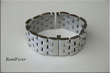 316L Solid HEAVY Polished Stainless Steel Watch Band, Bracelet Gold/Silver/Black