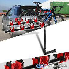 """4 Bike Hold Hitch Mount Bicycle Rack Carrier 1 1/4"""" And 2"""""""