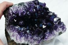 "8804 Super Purple Amethyst Geode Cathedral URUGUAYAN 4.8"" Free Standing 130mm"