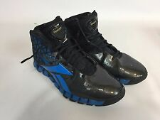 Mens Size 9.5 9 1/2 REEBOK ZIG TECH Black/Blue Athletic High Top Shoes A11
