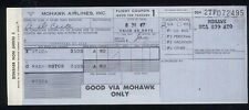 MOHAWK airlines US airways TICKET airline coupon 1967 Utica Washington aa