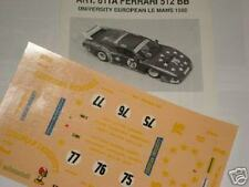 FERRARI 512 BB 24h LE MANS 1980 UNIVERSITY 1/43 DECALS FDS AUTOMODELLI